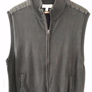 Cabela's Dark Green Zip Sweater Vest